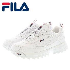 FILA レディーススニーカー ディスラプター フィラ 厚底 シューズ ホワイト F51700125
