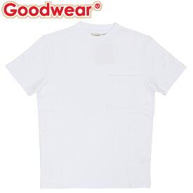 グッドウェア USAコットン ポケットT 半袖 Tシャツ ユニセックス トップス ホワイト 白色