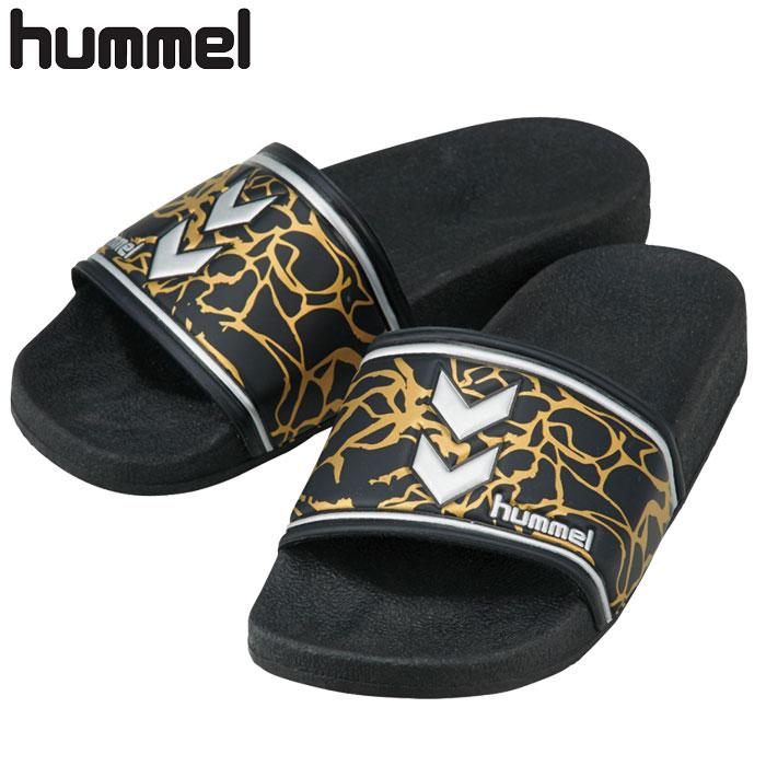 ヒュンメル シャワーサンダル ハンドボール メンズ レディース ブラック HAS4020 hummel