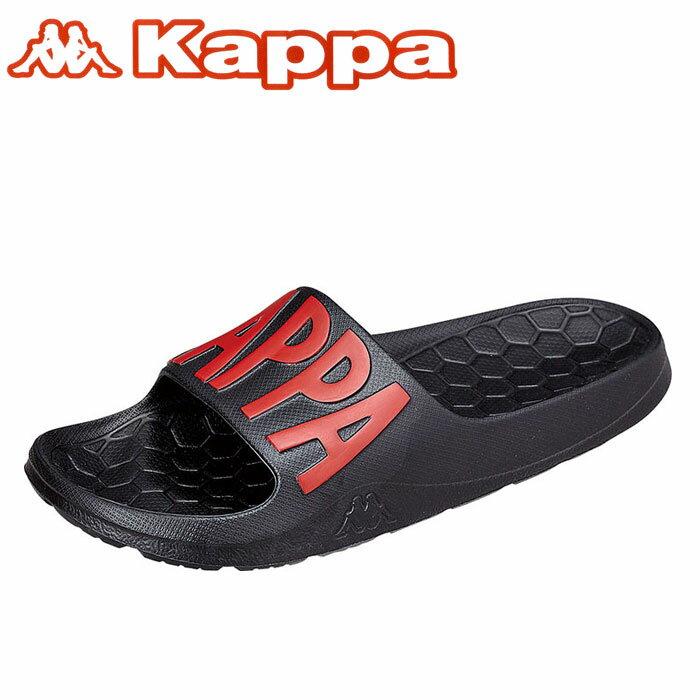 カッパ シャワーサンダル ビッグロゴ 黒色 スポーツサンダル Kappa KP BRU57 シャワサン スポサン ブラック 通販 即納 ユニセックス 男女兼用 おすすめ