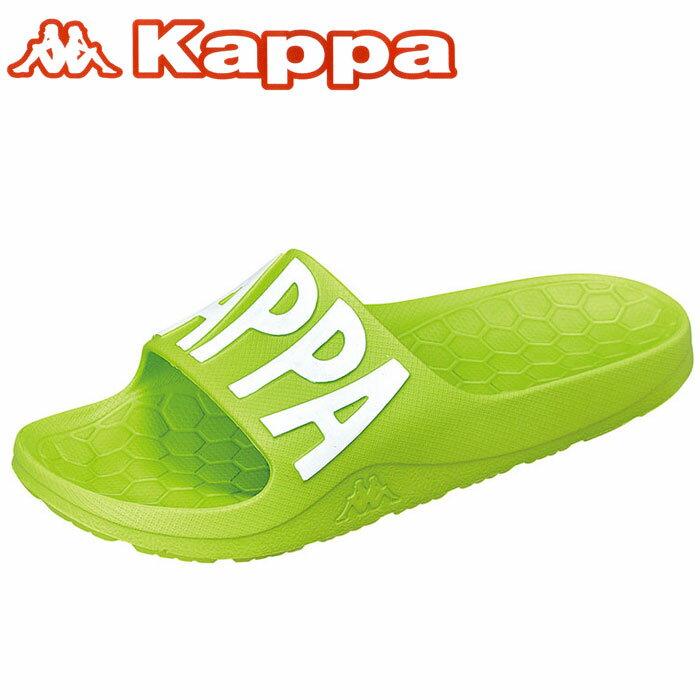 カッパ シャワーサンダル ビッグロゴ スポーツサンダル ライム シャワサン Kappa KP BRU57 スポサン 緑色