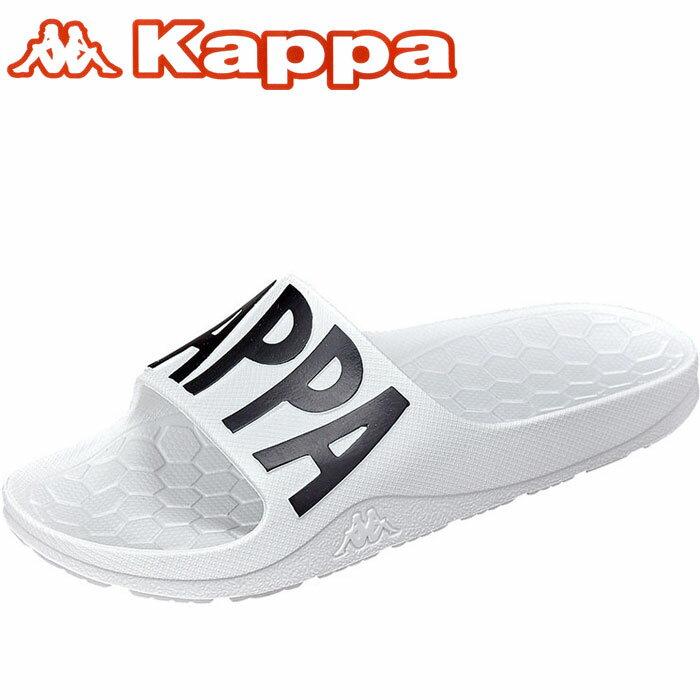 カッパ ビッグロゴ スポサン スポーツサンダル 白色 シャワサン Kappa KP BRU57 シャワーサンダル ホワイト