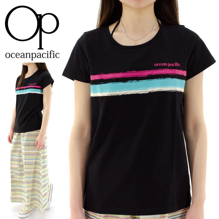 半袖Tシャツ レディースTシャツ OP カットソー クルーネック オーピー カジュアルTシャツ 526555D クルーネックTシャツ 通販 販売 即納 人気 オーシャンパシフィック OCEAN PACIFIC トップス レディスTシャツ 半そでTシャツ