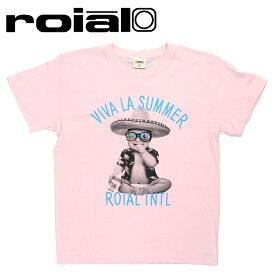 ロイアル ROIAL Tシャツ 定番 グラフィック PINK ピンク 綿100% R901MST03 半袖Tシャツ シンプル