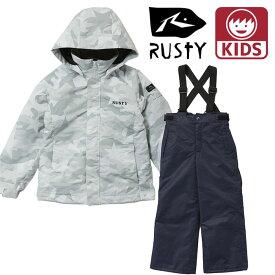 ラスティ キッズ スノーボード ジュニア ジャケット ホワイト ウィンタースポーツ RUSTY 940602