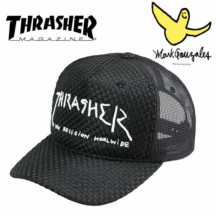 スラッシャー ロゴ スナップバックキャップ GONZ MAG LOGO キャップ 黒色 ブラック THRASHER 18TH-C03