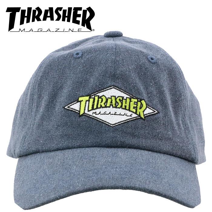 スラッシャー キャップ 帽子 ネイビー 6パネルポロキャップ 紺色 CAP 刺繍 THRASHER 18TH-C05 NVY