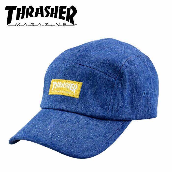 スラッシャー スナップバックキャップ THRASHER MAGLOGO デニム調 帽子 18TH-C25 ネイビー スケーター