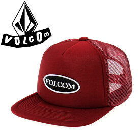VOLCOM(ボルコム) メッシュキャップ スナップバック フラットバイザー 【D55117JB/BUR】 Old Patch Cheese Hat CAP 帽子