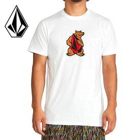 ボルコム Tシャツ APAC BEAR HUG S/S TEE AF522030 半袖 綿100% メンズ ストーンロゴ コットン ホワイト