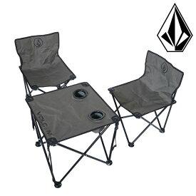 ボルコム テーブルセット キャンプチェア 4点セット 折り畳み式 アウトドア VOLCOM D67119JA