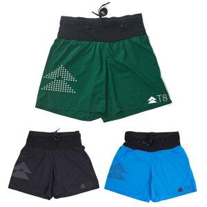 T8 Men's Sherpa Shorts ランニングショーツ V2 トレイルランニング ランニング シェルパ パンツ 超軽量 速乾 ティーエイト
