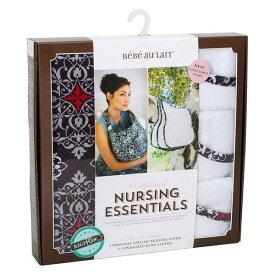 ベベオレ 授乳 ケープ &バープクロスセット Bebe Au Lait 【 アマルフィ 】 ギフトセット ナーシングカバー Nursing Essentials