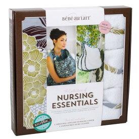 ベベオレ 授乳 ケープ &バープクロスセット Bebe Au Lait 【 アスコット 】 ギフトセット ナーシングカバー Nursing Essentials