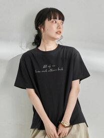 【earth music&ecology】Stay true to yourself BOX Tシャツ レディース アースミュージックアンドエコロジー アースミュージックエコロジー 春夏 夏 2021【 2,000円(税込)以上で 送料無料 】