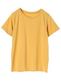 【E hyphen world gallery】 クルーネックTシャツ | イーハイフンワールドギャラリー カットソー オフホワイト ライトグレー ブラック イエロー ブルー ピンクベージュ