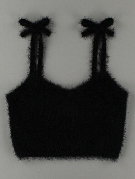 【E hyphen world gallery BonBon】イーハイフンワールドギャラリー フェザービスチェ ニットセーター トップス レディース 秋冬