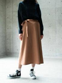 【 送料無料 】【koe】起毛台形スカート | レディース | コエ L M ベージュ ダークブラウン 秋冬 冬 2019