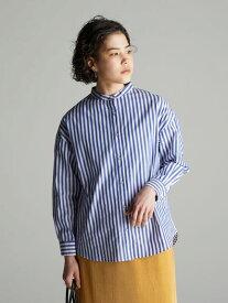【 送料無料 】【koe】バンドカラーシャツ レディース コエ 春夏 春 2020 ベージュ ピンク ストライプ チェック 人気