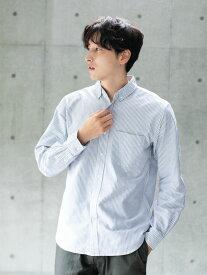 【 送料無料 】【koe】【UNISEX対応】スタンダードオーガニックオックスBDシャツ メンズ コエ 2020 ホワイト ベージュ ギンガムチェック カジュアル シンプル 大人 デザイン ワン ポケット ポイント 生地 メイン ジャケット ライト 羽織り 代わり