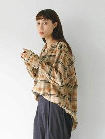 【 送料無料 】【koe】フランネルチェックオープンカラーシャツ コエ 秋冬 冬 2020