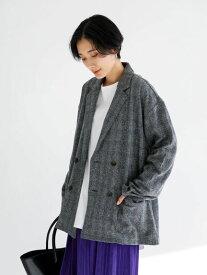 【 送料無料 】【koe】グレンチェックジャケット コエ 秋冬 冬 2020