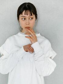 【 送料無料 】【koe】マルチウェイ裏毛プルオーバー ホワイト パープル カジュアル シンプル プラスワンピース デニム タートルネック パンツ シャツ Tシャツ プリーツ ベスト 着こなし ポリウレタン 大人 気分 スタイリング 体型 カバー