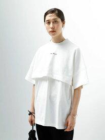 【 送料無料 】【koe】フロント刺繍レイヤー風半袖Tシャツ レディース コエ 春夏 夏 2021 ホワイト 半袖 刺繍 カット