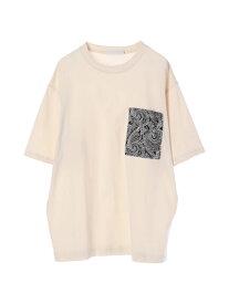【 送料無料 】【koe】柄ポケットTシャツ ホワイト カジュアル シンプル スタイル インパクト ベーシック フォルム ラフ トレンド バランス メイク おすすめ