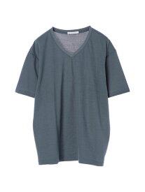 【 送料無料 】【koe】梨地天竺VネックTシャツ