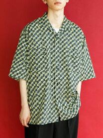 【 送料無料 】【koe】柄オープンカラー半袖シャツ