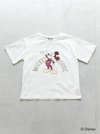 【 送料無料 】【koe】mickey カレッジロゴTシャツ