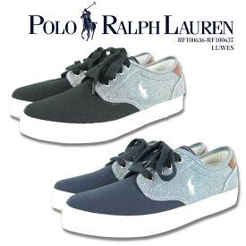 ポロ ラルフローレン POLO Ralph Lauren ラルフ スニーカー/rf100636-rf100637 靴 ブランド スニーカー カジュアル シューズ ポニー刺繍 シャンブレー 疲れにくい シンプル おしゃれ きれいめ 水色 青 サックス プレゼント 贈り物 LUWES
