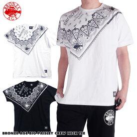 【再値下げ】 父の日 ギフト ブロンズエイジ 半袖Tシャツ ドルマン メンズ ヘビーウェイト 綿100 白/黒 大きいサイズ 正規品 西海岸