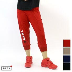 BAWL ボウル ユニセックス ロゴ カプリパンツ BEIGE BLACK NAVY RED Sサイズ Mサイズ Lサイズ XLサイズ XXLサイズ