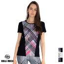 1月発売新作【RM56154】ROLAMOCAローラーモサ総柄アクセントTシャツBLACKWHITESサイズMサイズ海外フィットネスウェアズンバウェアlabodyレディース
