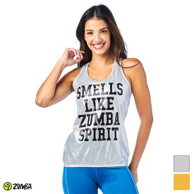 1月発売新作 正規品【ZU1963】 ZUMBA ズンバ メタリック メッシュ タンクトップ SILVER GOLD Sサイズ Mサイズ SEXY