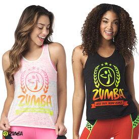 3月発売新作 ZUMBA ズンバ バーンアウト グラデーションロゴ タンクトップ BLACK WHITE Sサイズ Mサイズ Lサイズ