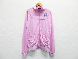 PEARLY GATES パーリーゲイツ メッシュジャケット ピンク系 1 【中古】ゴルフウェア レディース