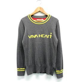 VIVA HEART ビバハート ニットセーター グレー系 38 【中古】ゴルフウェア レディース