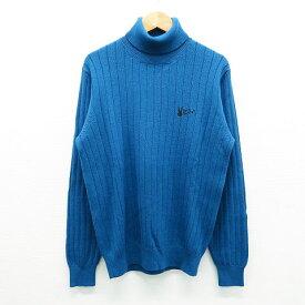 JACK BUNNY ジャックバニー タートルネックニットセーター ブルー系 1 【中古】ゴルフウェア レディース