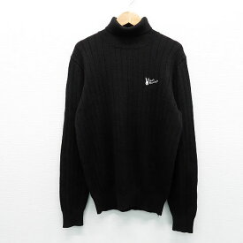 JACK BUNNY ジャックバニー タートルネックニットセーター ブラック系 1 【中古】ゴルフウェア レディース