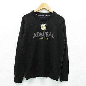 ADMIRAL アドミラル ニット セーター ブラック系 L 【中古】ゴルフウェア レディース