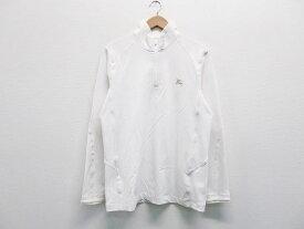 BURBERRY GOLF バーバリーゴルフ ハーフジップシャツ ホワイト系 3 【中古】ゴルフウェア メンズ