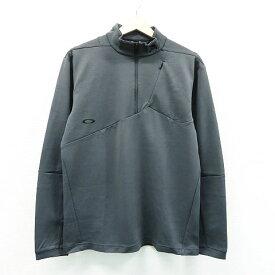 OAKLEY オークリー 長袖ハーフジップTシャツ グレー系 M 【中古】ゴルフウェア メンズ