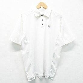 UNDER ARMOUR アンダーアーマー 半袖ポロシャツ ホワイト系 M 【中古】ゴルフウェア メンズ