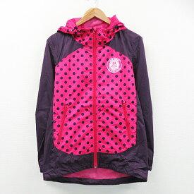 JACK BUNNY ジャックバニー 裏メッシュパーカージャケット ドット ピンク系 4 【中古】ゴルフウェア メンズ