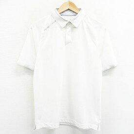 UNDER ARMOUR アンダーアーマー 半袖 ポロシャツ ホワイト系 MD 【中古】ゴルフウェア メンズ