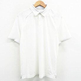 UNDER ARMOUR アンダーアーマー 半袖ポロシャツ ホワイト系 MD 【中古】ゴルフウェア メンズ