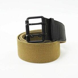TMT CLASSIC ティーエムティークラシック キャンバス テープベルト ベージュ系 L 【中古】ゴルフウェア メンズ